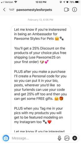 instagram sponsorship pitch