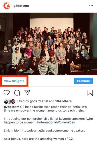 instagram view insights