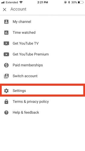 youtube dark mode iphone settings