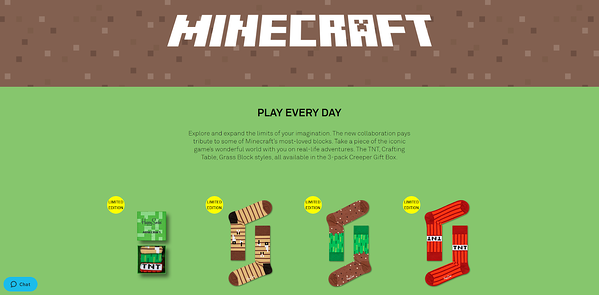 happy socks minecraft