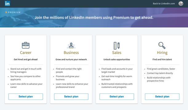 linkedin premium tiers