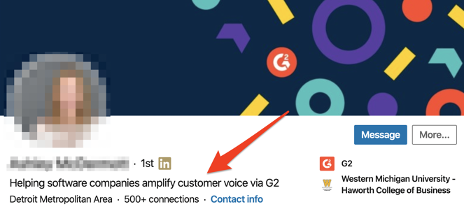 example of a linkedin headline for sales
