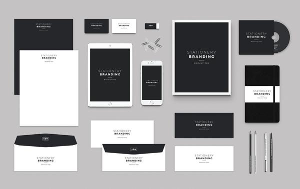 logo design process mockups