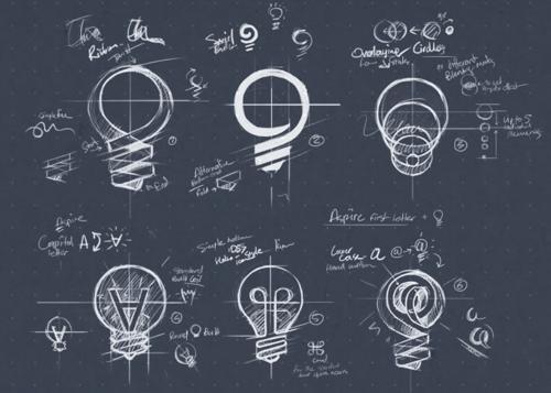 logo design process sketch