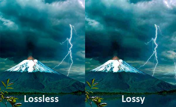 Lossless vs lossy