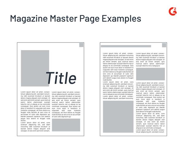 magazine master page example