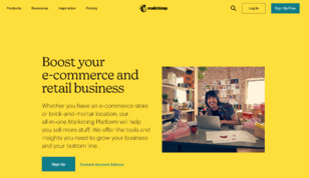 mailchimp web UI