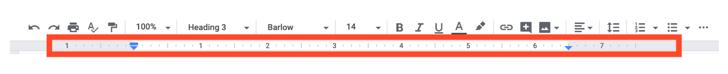 margin ruler