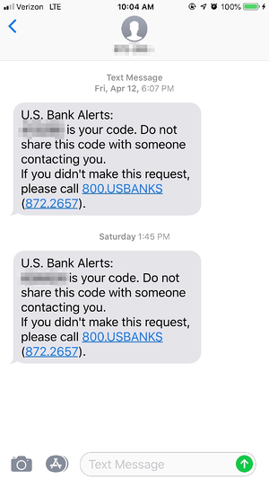US Bank Multi-Factor Authentication
