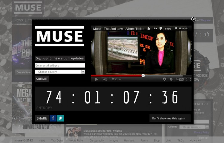 muse countdown splash screen