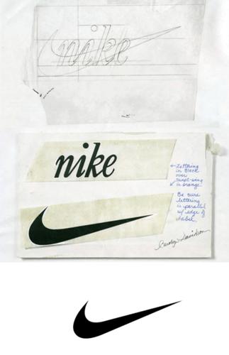nike logo drafts