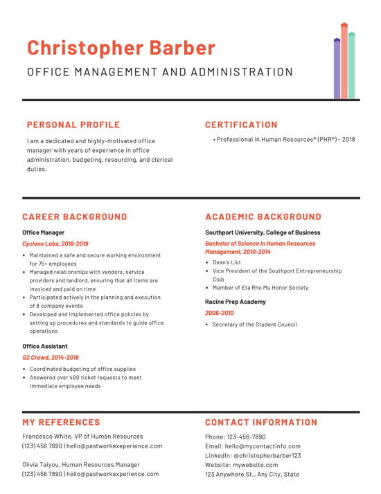 Office Manager Resume And Cover Letter Tips Examples