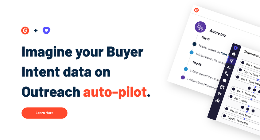 Build Accurate, Effective Sales Sequences With G2 + Outreach