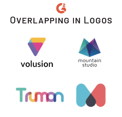 overlapping trend in logos
