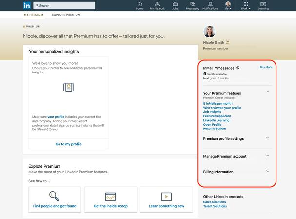 overview of linkedin premium