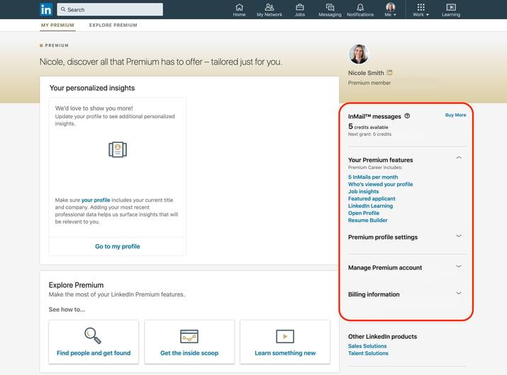 overview of linkedin premium