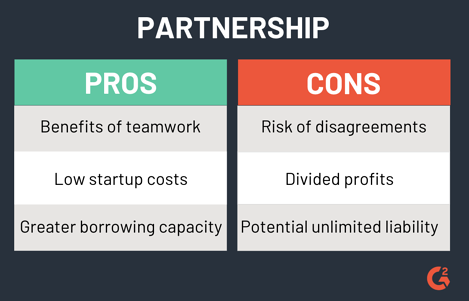 pros and cons of a partnership