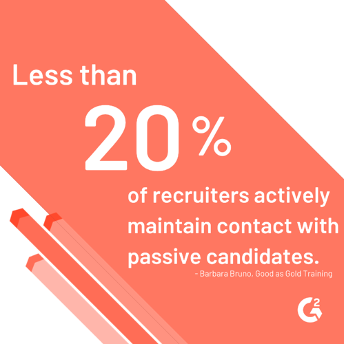 passive candidate statistics