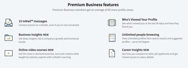 premium business perks list