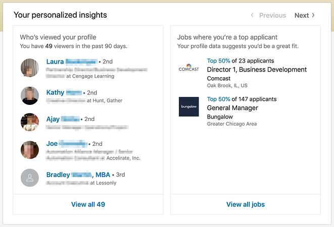 premium career personalized insights