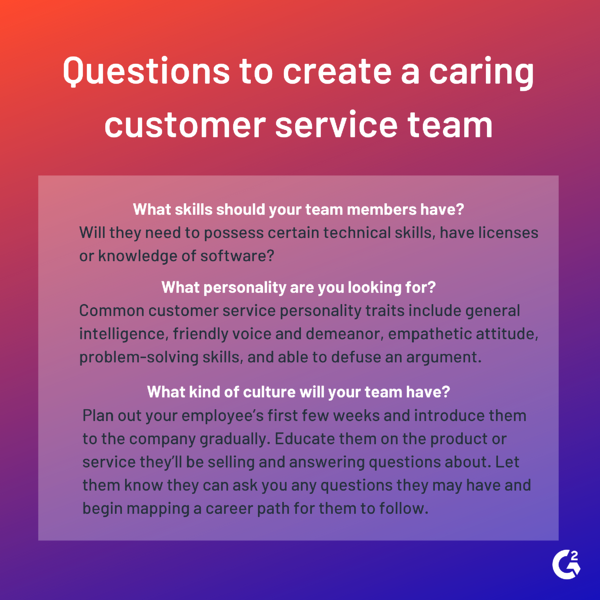 questions to create a caring team