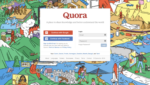 how to set up a quora account