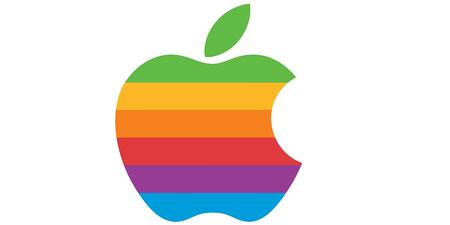 rainbow apple logo