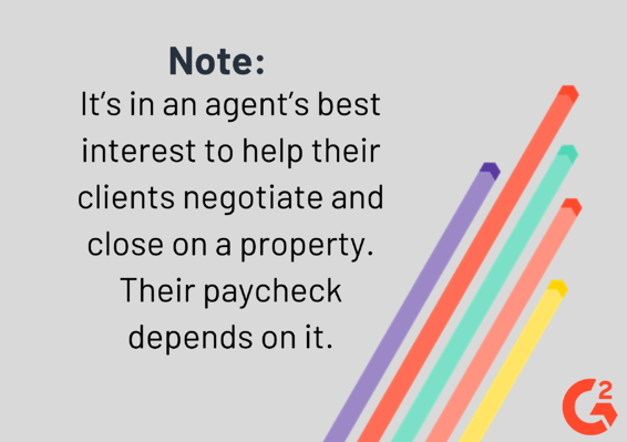 note about real estate agents