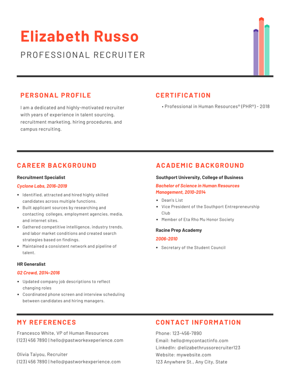 Recruiter Resume and Cover Letter Tips (+Examples)