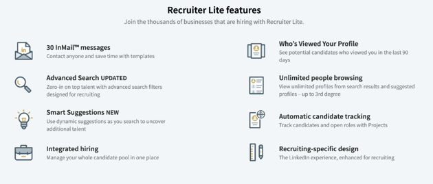 recruiter lite perk list