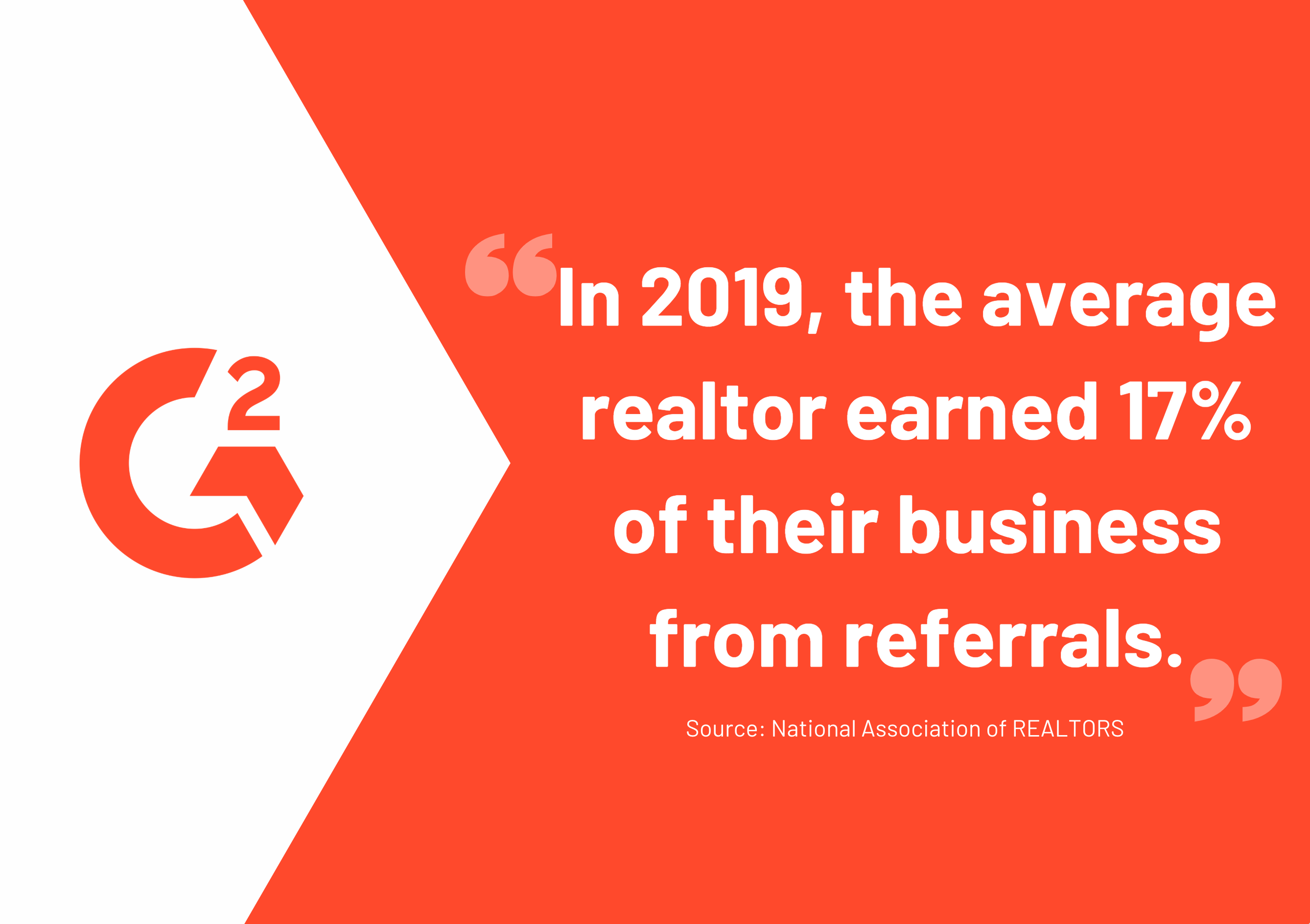 quote about real estate lead generation referral statistics