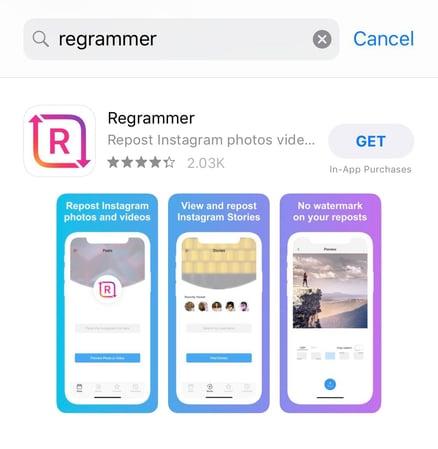 regrammer app logo