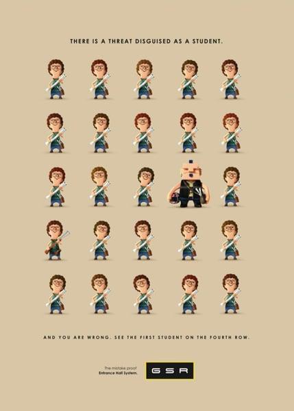 repetition in ad design