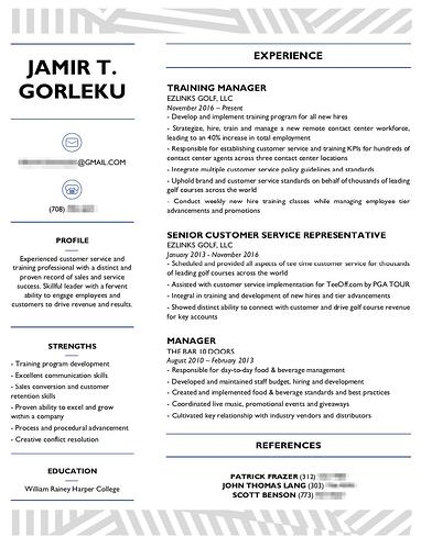 resume after customization