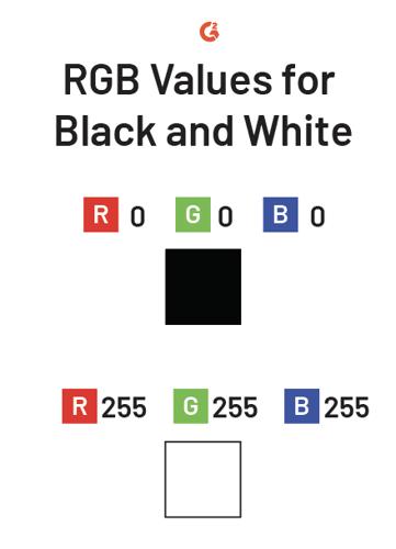rgb black and white