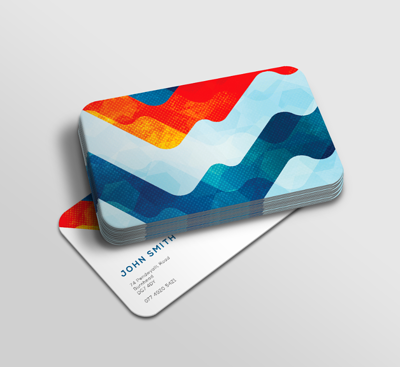 rounded business card example