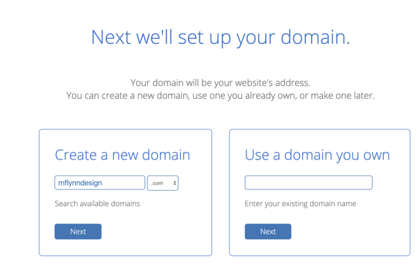 searching for a web domain
