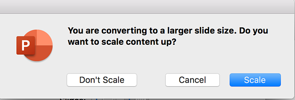 select scale in powerpoint