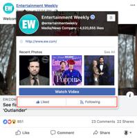 hoe kunt u een pagina op Facebook niet leuk vinden door met uw muis over de naam van de pagina te gaan die u leuk vindt