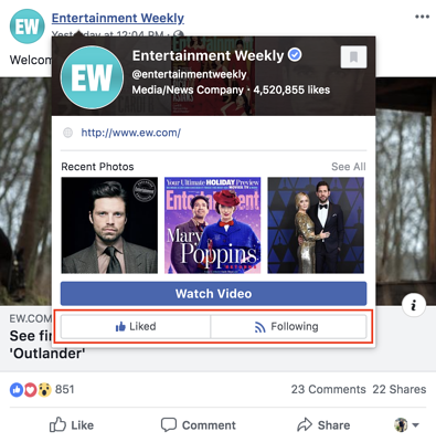 how to unlike a page on Facebook hover over the name of the page you have liked