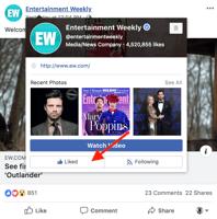 hoe een Facebook-pagina ontvolgen druk je op de like-knop