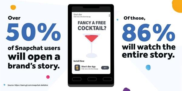 snapchat statistics graphic