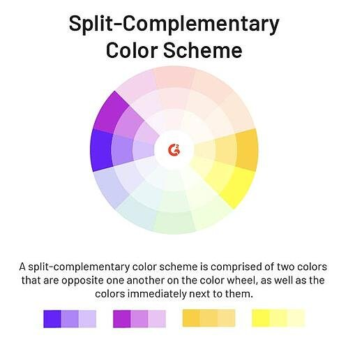 split-complementary color