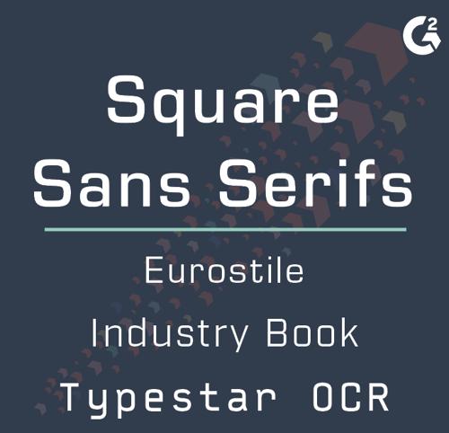 square sans serifs examples