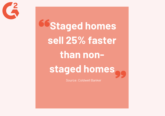 real estate statistic about staged homes