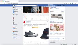 Hoe meerdere pagina's te liken op Facebook logt u in en gaat u naar uw profiel