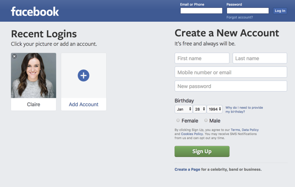 Step 1 Visit Facebook and log into your account