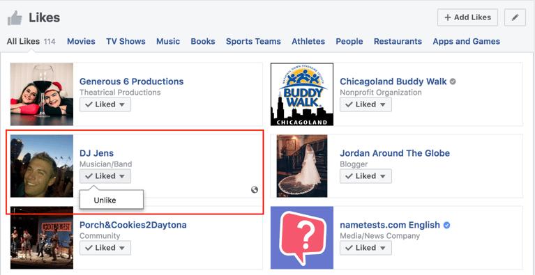 hoe meerdere Facebook-pagina's verwijderen Selecteer de pagina die je wilt verwijderen en druk op Verwijderen