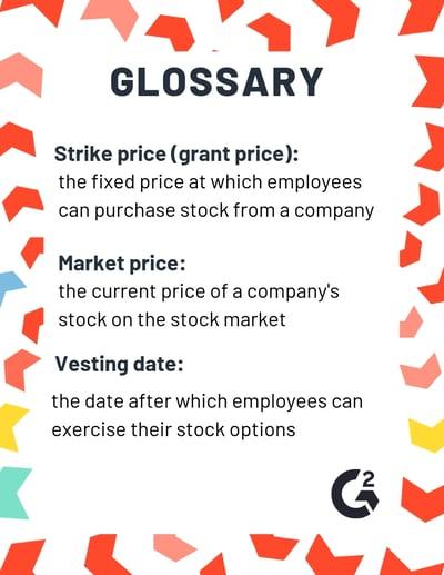 stock options glossary
