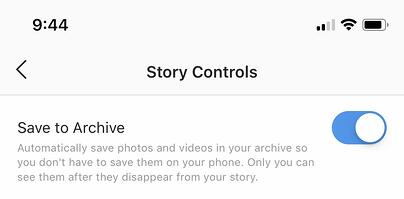 stop archiving instagram stories